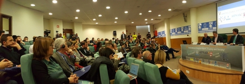 "Foto zeigt Teilnehmende des 5th International Congress ""Sport, Doping and Society"" in Madrid (Spanien)"